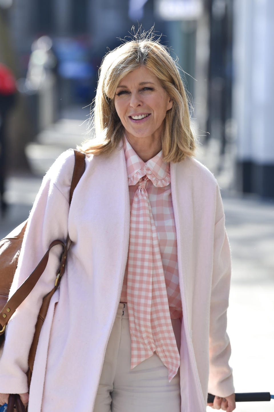 Kate Garraway seen arriving at the Global Radio studios in London. (Photo by Dave Rushen / SOPA Images/Sipa USA)