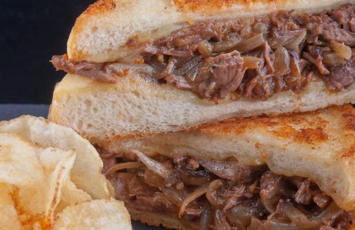 """<p>Kansas City Chief fans might recognize the Arrowhead short rib melt from Arrowhead Stadium in Missouri. This recipe pairs tender short ribs with simple ingredients like chopped onion, beef stock, tomato sauce and two <a href=""""https://www.thedailymeal.com/travel/cheese-around-the-world-everyone-should-try?referrer=yahoo&category=beauty_food&include_utm=1&utm_medium=referral&utm_source=yahoo&utm_campaign=feed"""">different types of cheese</a>.</p> <p><a href=""""https://www.thedailymeal.com/recipes/arrowhead-short-rib-melt?referrer=yahoo&category=beauty_food&include_utm=1&utm_medium=referral&utm_source=yahoo&utm_campaign=feed"""">For the Arrowhead Short Rib Melt Recipe, click here</a></p>"""