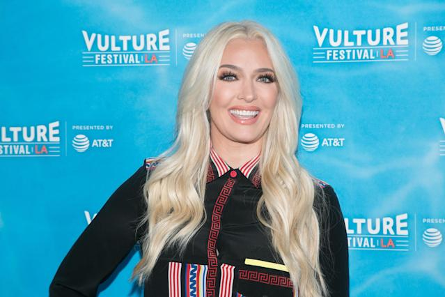 Erika Jayne at the Hollywood Roosevelt Hotel on Nov. 18, 2017, in Hollywood. (Photo: Getty Images)