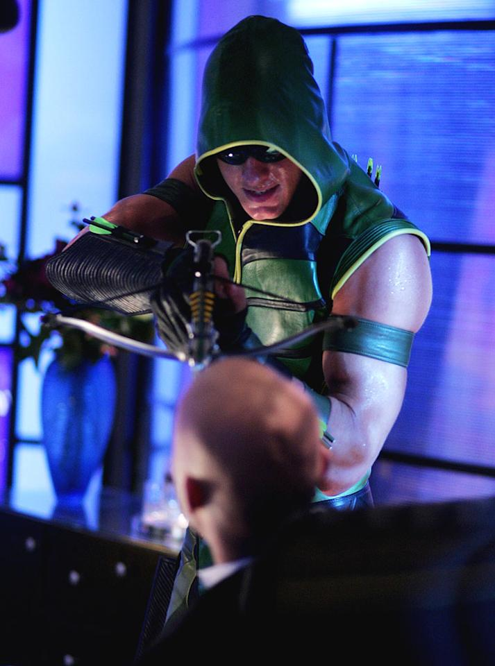 "<a href=""/justin-hartley/contributor/1263501"">Justin Hartley</a> as Oliver Queen ""Green Arrow"" in <a href=""/smallville/show/33659"">Smallville</a>, on The CW."