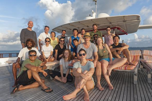 The Hydrous team in the Maldives