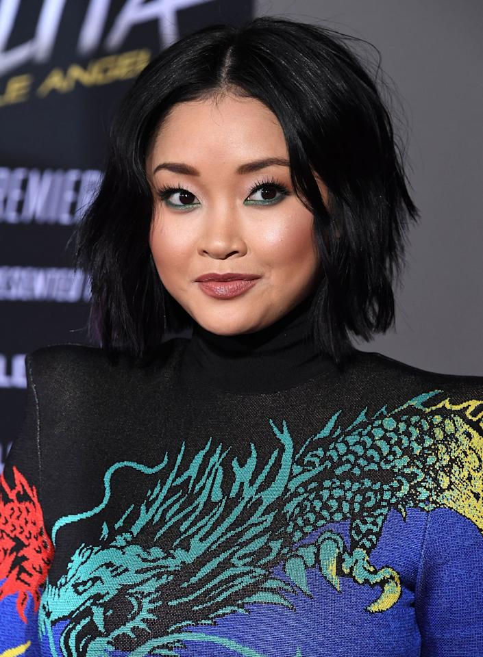 <p>Lana Condor's bob is slightly longer around her face, which gives her lots of body and styling options. </p>