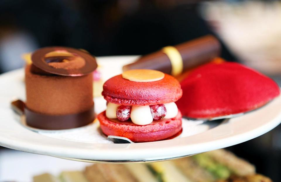 """<p>London's glamorous Balthazar restaurant has teamed up with Bobbi Brown make-up to create an afternoon tea dedicated to all things beauty. The brand's iconic products have inspired the food, so you'll tuck into lip-shaped cakes and biscuits that look like eye pencils. Because why not? It costs £25 per person.</p><p><b><a rel=""""nofollow noopener"""" href=""""http://balthazarlondon.com/"""" target=""""_blank"""" data-ylk=""""slk:Balthazarlondon.com"""" class=""""link rapid-noclick-resp"""">Balthazarlondon.com</a></b></p>"""
