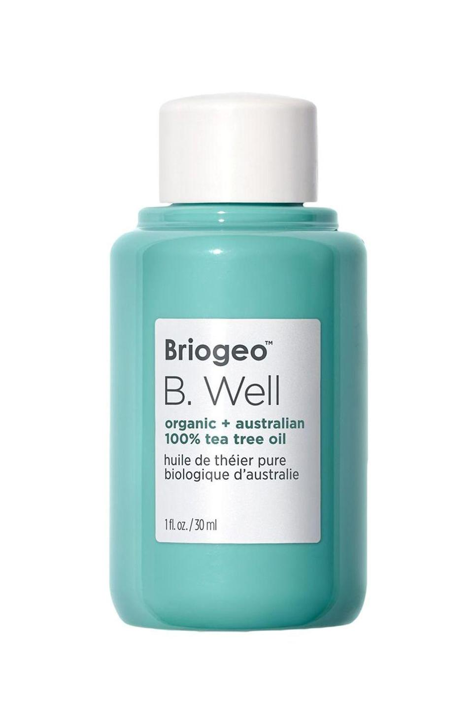 """<p><strong>Briogeo</strong></p><p>sephora.com</p><p><strong>$32.00</strong></p><p><a href=""""https://go.redirectingat.com?id=74968X1596630&url=https%3A%2F%2Fwww.sephora.com%2Fproduct%2Fb-well-organic-australian-100-tea-tree-oil-P440274&sref=https%3A%2F%2Fwww.cosmopolitan.com%2Fstyle-beauty%2Fbeauty%2Fg33473200%2Fbest-organic-hair-products%2F"""" rel=""""nofollow noopener"""" target=""""_blank"""" data-ylk=""""slk:Shop Now"""" class=""""link rapid-noclick-resp"""">Shop Now</a></p><p>The hero ingredient in this organic scalp treatment? 100 percent pure tea tree leaf oil from Australia, which is <strong>prized for its antimicrobial and anti-inflammatory properties</strong>. Dilute it with a carrier oil (like coconut oil or jojoba oil) and massage it into your scalp or add a few drops to your favorite <a href=""""https://www.cosmopolitan.com/style-beauty/beauty/g2149/best-shampoo-conditioner/"""" rel=""""nofollow noopener"""" target=""""_blank"""" data-ylk=""""slk:shampoo and/or conditioner"""" class=""""link rapid-noclick-resp"""">shampoo and/or conditioner</a> to get rid of itchiness, dryness, and flakes.</p>"""