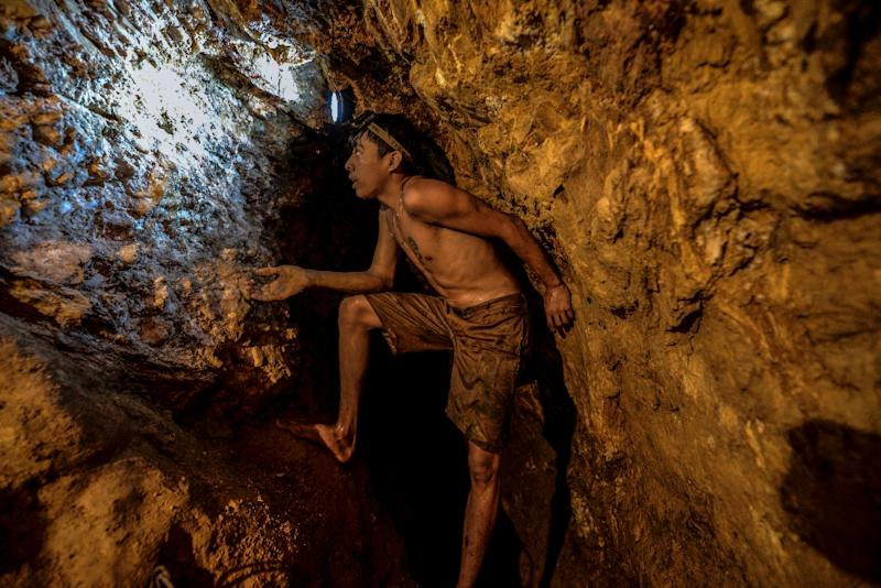 Although life in the mines of eastern Venezuela is hard and dangerous, tens of thousands of people like Ender Moreno, 18, head for the mines daily, pushed by the rise in gold prices and by the severe economic crisis affecting the country