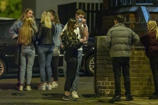 Late-night drinkers leave the Brookhouse public house in Liverpool (Peter Byrne/PA)