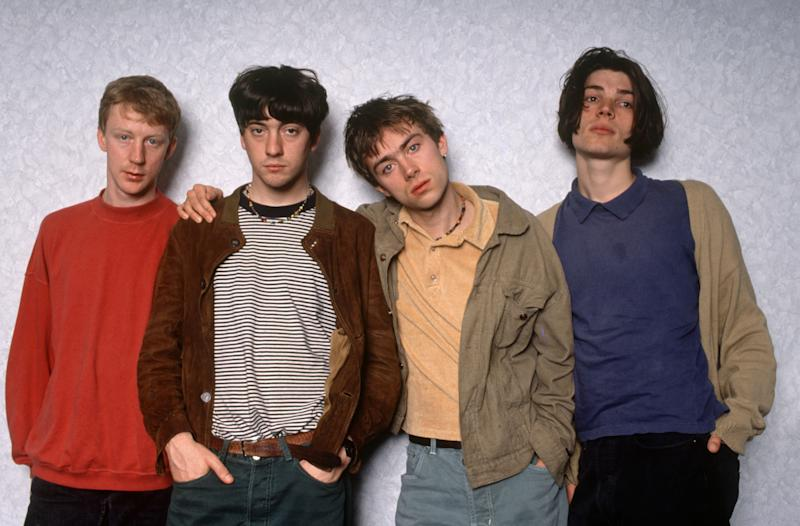 Blur - Dave Rowntree, Graham Coxon, Damon Albarn And Alex James, Blur - Dave Rowntree, Graham Coxon, Damon Albarn And Alex James (Photo by Brian Rasic/Getty Images)
