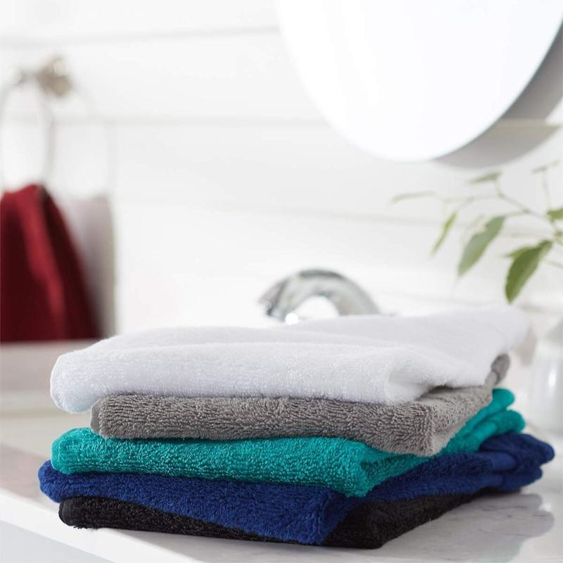Amazon Basics Fade-Resistant Cotton Hand Towels. (Photo: Amazon)