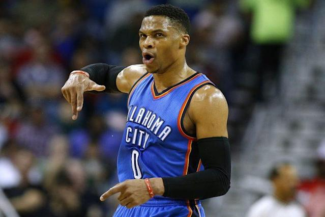 """<a class=""""link rapid-noclick-resp"""" href=""""/nba/players/4390/"""" data-ylk=""""slk:Russell Westbrook"""">Russell Westbrook</a> could be a free agent come July 2018. (Getty)"""