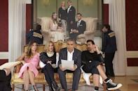 <p>In the very first moments of <em>Schitt's Creek</em>, Johnny Rose discovers that his company's business manager never paid their taxes and has subsequently disappeared. The government comes to seize almost all of the family's assets, except for a small town called (you guessed it) Schitt's Creek. Moral of the story: Don't break the law.</p>