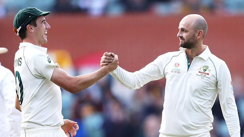 Pat Cummins and Nathan Lyon are two key members of Australia's current bowling unit. Pic: Getty