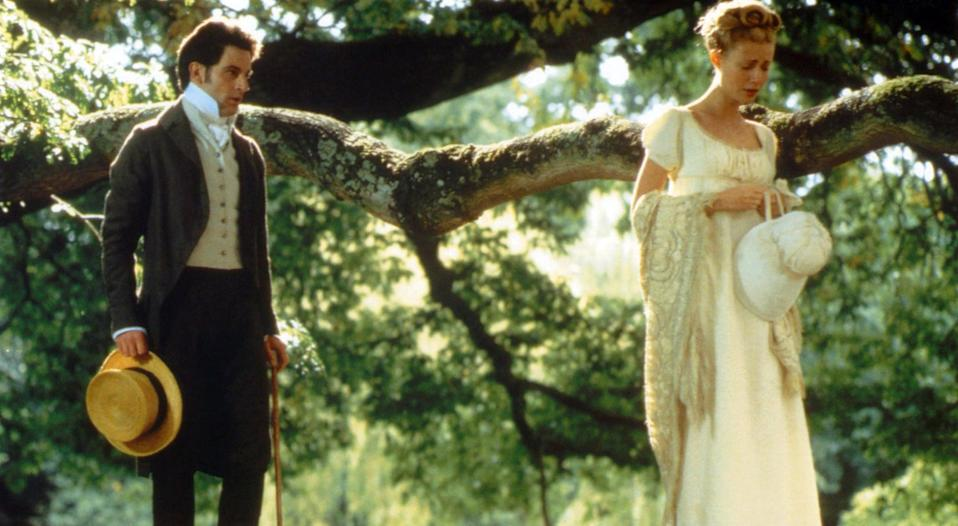"<p>The original adaptation of Austen's classic antiheroine rom-com, <strong>Emma</strong> stars <a class=""link rapid-noclick-resp"" href=""https://www.popsugar.com/Gwyneth-Paltrow"" rel=""nofollow noopener"" target=""_blank"" data-ylk=""slk:Gwyneth Paltrow"">Gwyneth Paltrow</a> as arrogant, meddling Emma Woodhouse, a determined matchmaker who's equally determined not to fall in love herself. It's a must watch for any Jane Austen fan, with a gauzy, dreamy approach and all the heartache and joy you'd expect.</p> <p><a href=""https://www.hbomax.com/feature/urn:hbo:feature:GXiocuApMjB3DwgEAAAGs"" class=""link rapid-noclick-resp"" rel=""nofollow noopener"" target=""_blank"" data-ylk=""slk:Watch Emma on HBO Max"">Watch <strong>Emma</strong> on HBO Max</a>.</p>"