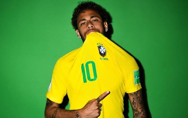 "Before the World Cup in 2014, Neymar walked into an Italian watch shop in Tokyo and spent £140,000 on over a dozen timepieces. He returned three years later, not to buy more, but to launch his own design of his favourite brand - Gaga Milano. Then, the number 11 on the clock face was encrusted with diamonds, representing his shirt number at Barcelona. Now, the diamonds outline the number 10, and for £1,050 you can look like Neymar, too. But why stop at watches? Neymar is the face of Red Bull, Pilão coffee and Prohibida beer, so you can drink like him at any time of the day. You can dress like him in C&A underwear and Replay jeans, fly like him on Gol airlines, shave like him with Gillette, listen to music like him with Beats by Dre Headphones and play like him in Nike boots. And if you ever find yourself in Brazil with a flat car battery, there's a Neymar brand for you too: Baterias Heliar - 'the best batteries for your car.' Neymar's pursuit of football's biggest prize begins again on Sunday when Brazil make their bow at the 2018 World Cup, but when it comes to his work off the field, the Selecao's No 10 is already an emphatic winner. He may still only be 26 years old, but he is already the face of 27 companies in Brazil and beyond, and according to Forbes' list of highest-paid athletes in the world, the fifth biggest earner in sport. Neymar attends a fashion event for Replay, one of the brands he represents, in Shanghai last year Credit: CHANDAN KHANNA/AFP Last year, the Paris St Germain forward netted an eye-watering £54million from his club, including signing-on fees, and his basic wage is £600,000 a week - more than double any other player in the French league. On top of this, his endorsements last year brought in another £13million. In 2017, Cristiano Ronaldo and Lionel Messi earned more money through endorsements (£35million and £20million respectively), but it is the sheer volume and acceleration of Neymar's tie-ins that makes him stand out. According to Sportcal, a sports marketing intelligence company, since joining Manchester United in 2003, Ronaldo has signed sponsorship deals with 28 companies, and Messi 17. Neymar has worked with at least 38 companies so far in his career, and it is only a matter of time before his earning catch up. Big brand | Neymar's 27 official endorsements NR Sports, which manages Neymar's commercial activity, shows that the Brazilian currently has 27 different 'partners.' He has previously represented at least eight more, including PokerStars, an online poker company which reportedly paid him £4m a year, and his recent twitter activity would indicate a new partnership with an online marketplace called 'Wish', as well as Quantum smartphones and NABUfit sports equipment. The biggest earners are Red Bull, Gillette and Beats Electronics (£3m a year each). And Baterias Heliar - 'the best batteries for your car'? £1m a year according to Sportcal. The other quirk of Neymar's commercial partnerships is that until he signed for PSG, he was the only active footballer earning more money off the field than on. In 2016, his Barcelona salary was around £11m a year, but his off-field deals brought in £17m. Since joining PSG, Neymar's earnings have rocketed Credit: Paris Saint-Germain When PSG paid £198million to sign him last summer, their owner, Qatari billionaire Nasser Al-Khelaifi spoke about Neymar, not as a player, but as a commodity. ""When you consider Neymar as a brand,"" he said, ""maybe it won't seem so expensive. I'm sure we'll make more money than we've paid. Before Neymar signed, the club was worth €1billion. Now it is worth €1.5billion. The best player in the world is here. With him our project will grow even stronger and the league will become more interesting to everyone."" The Neymar 'project' has not been without its hiccups at PSG - there are persistent rumours that he is unhappy at the club, with Real Madrid having made little secret of their desire to sign him - but there is no question that his arrival sent their profile stratospheric. The question is whether he has already outgrown France. A mural in Kolkata, India shows Neymar (right) with Marcelo, ahead of the World Cup Credit: REUTERS/Rupak De Chowdhuri ""For brands, Neymar is now seen as a 'leader' as opposed to being part of Messi's Barca team,"" said Conrad Wiacek, head of sponsorship at Sportcal. ""The only issue is the relative strength of the French league, which is a hindrance to Neymar's personal brand unless PSG can win the Champions League."" The other way for Neymar to boost his personal brand to giddy new heights is, of course, lifting that famous golden trophy in Moscow's Luzhniki Stadium next month - something that neither Ronaldo or Messi have done, and the final frontier for a footballer whose CV is already groaning with honours. ""His endorsements are based more around his profile in Brazil,"" Wiacek added. ""So doing something significant at a global level, like winning the World Cup, will make him even more attractive to brands."" WorldCup - newsletter promo - end of article"