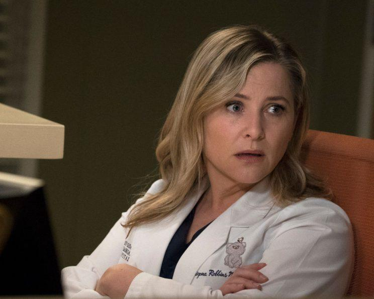 Jessica Capshaw in character.