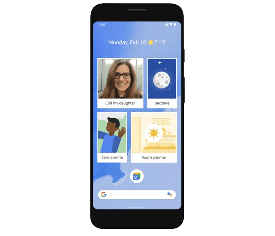 Google's Action Blocks feature is meant to make Android smartphones easier to use for people with cognitive or physical disabilities. (Image: Google)