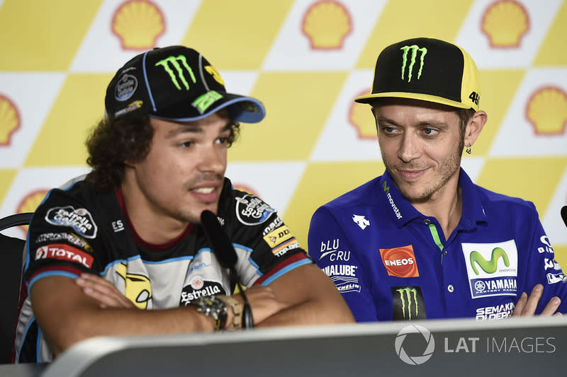 """Valentino Rossi, Yamaha Factory Racing, Franco Morbidelli, Marc VDS<span class=""""copyright"""">Gold and Goose / Motorsport Images</span>"""