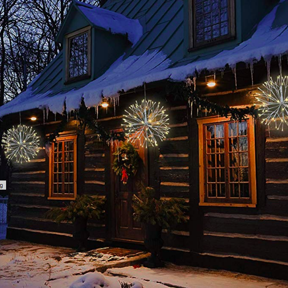 Festive lights adorn a home (Photo: Amazon)