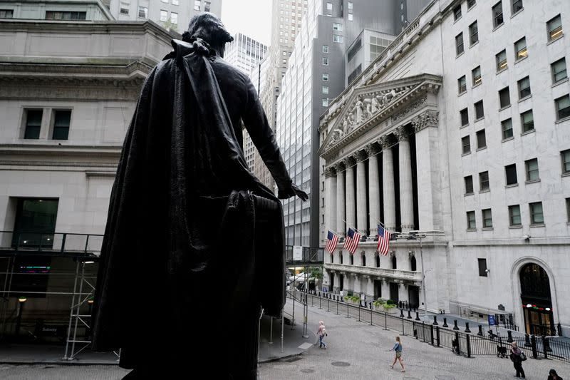 FILE PHOTO: The New York Stock Exchange is pictured in the Manhattan borough of New York City