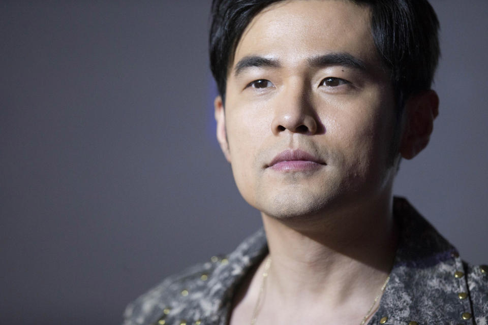 Image: Singer Jay Chou in Haikou, China. (Power Sport Images / Getty Images file)