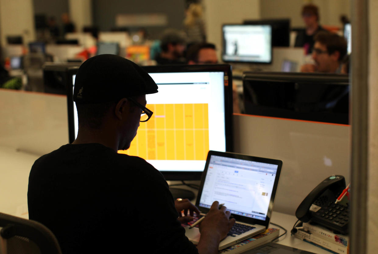 Tech companies are hiring more soft-skilled positions such as copywriters and sales executives and paying Silicon Valley salaries for the roles. (Photo: REUTERS/Robert Galbraith)