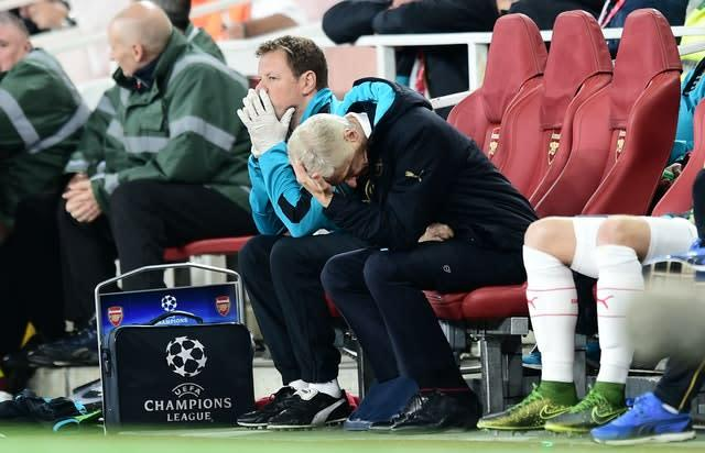 Wenger put Arsenal in the Champions League year after year but could never achieve success (Adam Davy/PA)