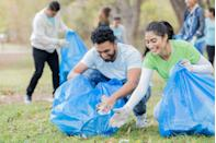 <p>Attend a park or beach cleanup, deliver food to people in need, help out at an animal shelter, or volunteer for a cause that matters to the two of you. Doing good feels good, and you'll make a difference in the world. </p>