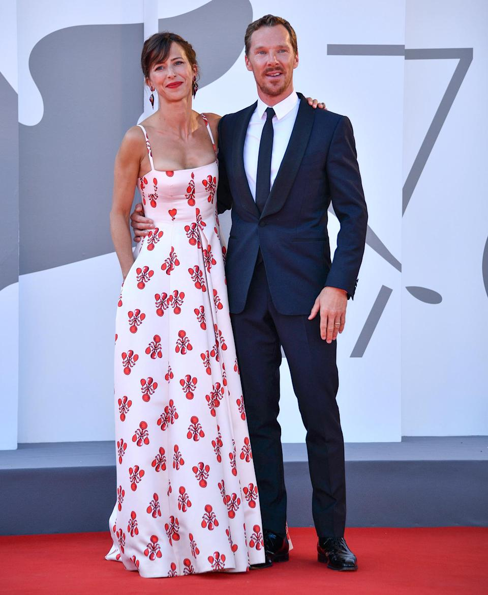 <p>Sophie Hunter and Benedict Cumberbatch hit <em>The Power of the Dog</em> red carpet on Sept. 2 at the Venice Film Festival. </p>