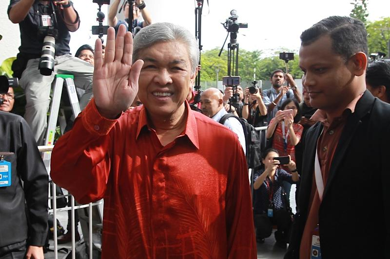 Datuk Seri Ahmad Zahid Hamidi is now left helming a rudderless party that increasingly wants to dissociate itself from its disgraced former leader Najib. — Picture by Azinuddin Ghazali