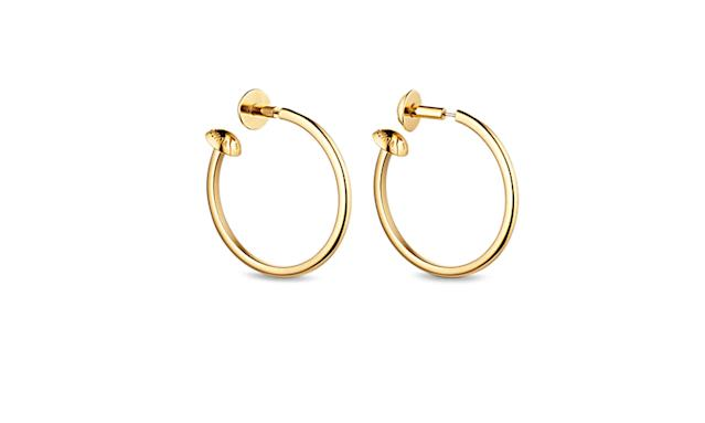 "<p>Studdy hoop earrings, $585, <a href=""http://us.louisvuitton.com/eng-us/stories/holidays-2017#M68207/shop/details"" rel=""nofollow noopener"" target=""_blank"" data-ylk=""slk:louisvuitton.com"" class=""link rapid-noclick-resp"">louisvuitton.com</a> </p>"