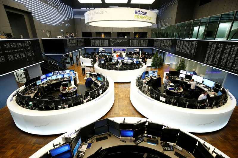 Global Markets: European shares rebound from lows, euro set for best month in a decade
