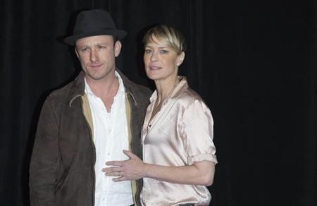 "Cast member Ben Foster and actress Robin Wright arrive for the premiere of the movie ""Lone Survivor"" in New York"