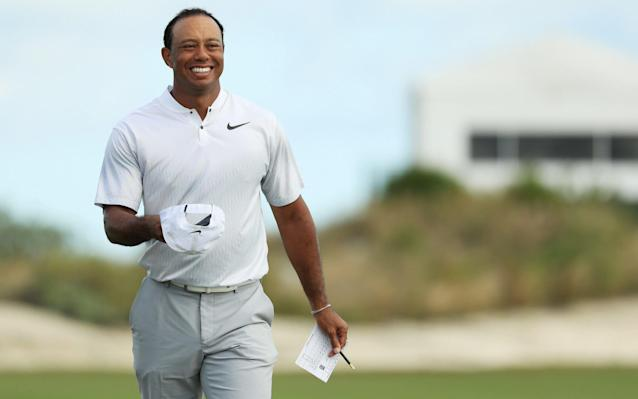 "For a blessed spell on the Albany course, it was 2007 all over again. Tiger Woods was out on his own on top of the leaderboard and the watching world was open-mouthed. Of all his comebacks this is already his most remarkable. Yes, there were a few late bogeys in his 68 for a seven-under total to take away a touch of the sparkle, but surely only the Grinch would put a downer on this resurrection. After all, this is his first competitive round in 10 months, following a spinal-fusion operation which was basically a make-of-break on his career. Add this rust to ridicule he suffered when being found slumped across his steering wheel in May, out of his mind on prescription drugs, and then you may approximate the scale of his achievement so far at the Hero World Challenge in Bahamas. This was his ninth round in 27 months and, after all he has been through, it must be doubted if many other of the game's legends would have been similarly capable. He is ranked 1199th in the world and is more than holding his own in a field boasting eight of the world's top 10. Typical Tiger, however, was refusing to follow everyone else and get carried away. ""After a 31 on the front nine I could have done better on the back nine,"" he said. ""I struggled with the speed all day on the greens. But I've proved the surgery has been successful, the rehab has been fantastic, and now I have the chance to play golf again. I'm just getting back, though, and have a way to go."" Woods lines up a putt on the second green at the Hero World Challenge Credit: Getty Images Before Thursday's round he had Steph Curry and Michael Phelps taking to social media to describe their excitement. This time it was Donovan Bailey, the former 100m world champion, and Niall Horan, the One Direction singer, expressing their feverish enthusiasm. Even for Woods this seemed surreal. Granted, the Hero World Challenge is essentially an end of season hit-and-giggle in which the lucky invitees get to fight it out for the honour of a $1 million winning cheque none of them really needs. But it boasts the best and the best do not appreciate losing. If the 41-year-old had stirred the memory bank with his first-round 69, then with three birdies in his first four holes, he switched on the mixer and made all the high points of his career suddenly pour over back into the consciousness. There was a fine approach to five feet on the first, a two-putt birdie from 30ft on the par-five third and a brilliant second shot to four feet on the third. And all the while, he was driving it in the style one of the celebrated young generation – long, straight. There was a lip-out for another birdie on the fifth and two of those six-foot knee-janglers on the sixth and seventh for par. It was on the par-five ninth where vintage Tiger leapt up and said ""remember me?"" The three-wood to 18ft set up the eagle putt and, inevitably, the fist pump. Why we are hooked on the Tiger Woods story At eight-under he was in the outright lead and for that moment, at least, golf was recalling its heyday. Yet perhaps the most satisfying factor for Woods was his chipping. In the first round there had been two ""chunks"" and the cynics had rolled their eyes and made the point that before his back completely cut out, Woods had been plagued by the chipping yips. On the 10th, there was a notable effort to a few feet and on the par-five 11th, after missing the green, his chip was exquisitely played to take him to nine-under. There was a three-putt bogey on the 12th, after charging his 50-footer almost 20 feet past the hole, and, once again, he failed to birdie a par five on the 15th. Woods played a wonderful par-saving pitch on the 17th, but a wayward drive on the 18th resulted in a five to finish the day in fifth, five behind Charley Hoffmann, on 12-under, with Tommy Fleetwood in a tie for second alongside Jordan Spieth on nine-under. No matter. It had been another stunning day."