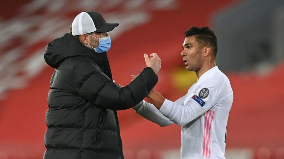 Jurgen Klopp e Casemiro | Shaun Botterill/Getty Images