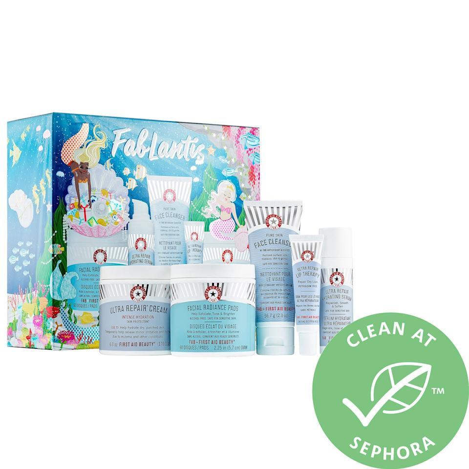 """<p>The products in this <a href=""""https://www.popsugar.com/buy/First-Aid-Beauty-Fablantis-495286?p_name=First%20Aid%20Beauty%20Fablantis&retailer=sephora.com&pid=495286&price=49&evar1=savvy%3Aus&evar9=42846563&evar98=https%3A%2F%2Fwww.popsugar.com%2Fhome%2Fphoto-gallery%2F42846563%2Fimage%2F46689098%2FFirst-Aid-Beauty-Fablantis&list1=gifts%2Choliday%2Cstocking%20stuffers%2Cchristmas%2Cgift%20guide%2Cgifts%20for%20women%2Cgifts%20under%20%2450&prop13=api&pdata=1"""" rel=""""nofollow"""" data-shoppable-link=""""1"""" target=""""_blank"""" class=""""ga-track"""" data-ga-category=""""Related"""" data-ga-label=""""https://www.sephora.com/product/fablantis-P447792?icid2=products%20grid:p447792"""" data-ga-action=""""In-Line Links"""">First Aid Beauty Fablantis</a> ($49) are full-size, which means they'll all make someone so happy.</p>"""