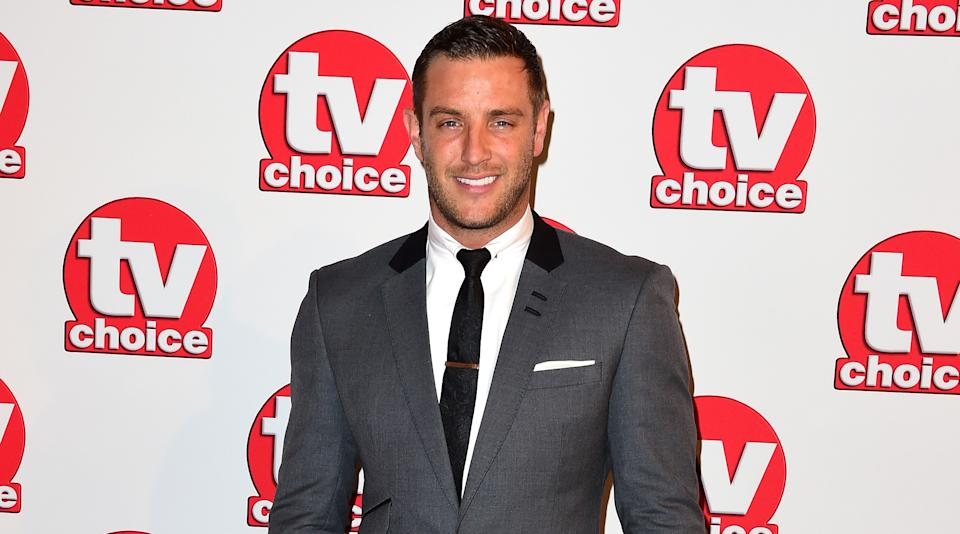 Elliott Wright attending the TV Choice Awards at the Hilton Hotel in London. PRESS ASSOCIATION Photo. Picture date: Monday 8 September, 2014. Photo credit should read: Ian West/PA Wire