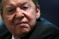 FILE PHOTO: CEO of Las Vegas Sands Corp Sheldon Adelson attends Sands China's 2010 Annual General Meeting in Hong Kong