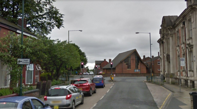 Spring Lane, Radcliffe, near Bury, was the scene of one of the suspected kidnapping attempts.