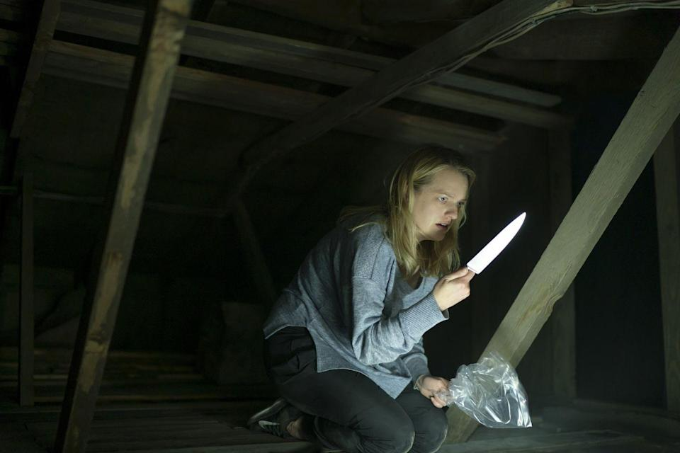 """<p>Gaslighting gets downright monstrous in <em>The Invisible Man</em>, a 21st-century take on Universal's classic unseen specter. Helmed with playful menace by Leigh Whannell, whose camerawork and compositions constantly tease subtle action in the corners of the frame, this slick genre effort finds Elisabeth Moss trying to convince anyone who'll listen that she's not crazy, and really is being hunted by her supposedly dead abusive boyfriend. Since said predator isn't visible to the human eye, however, that's not an easy task. Hot-button issues emerge naturally out of this basic premise, thereby letting Whannell sidestep overt preaching in favor of orchestrating a series of finely tuned set pieces in which lethal danger might materialize at any moment, from any direction. Avoiding unnecessary diversions or italicized politics, the filmmaker streamlines his tale into a ferocious game of cat-and-mouse, with Moss commanding the spotlight as a woman tormented both physically and psychologically, and determined to fight back against her misogynistic victimization.</p><p><a class=""""link rapid-noclick-resp"""" href=""""https://www.amazon.com/Invisible-Man-Storm-Reid/dp/B084SDJ2ST/?tag=syn-yahoo-20&ascsubtag=%5Bartid%7C10054.g.29500577%5Bsrc%7Cyahoo-us"""" rel=""""nofollow noopener"""" target=""""_blank"""" data-ylk=""""slk:Watch Now"""">Watch Now</a></p>"""