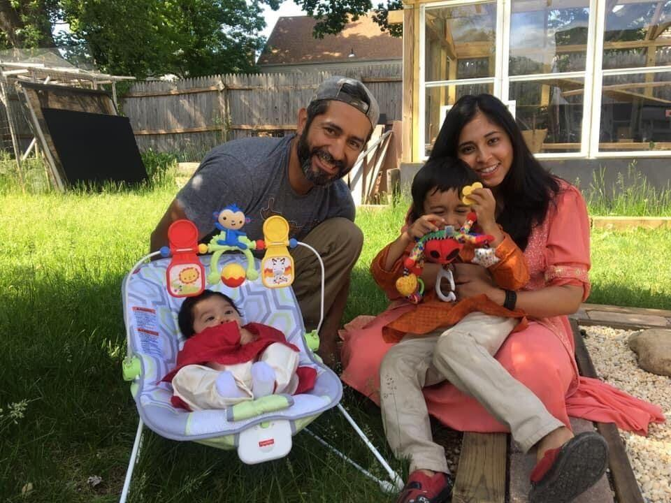 Smita Nadia Hussain, a Bengali American, with her Salvadoran American husband and their two children. (Photo: Photo provided by Smita Nadia Hussain)
