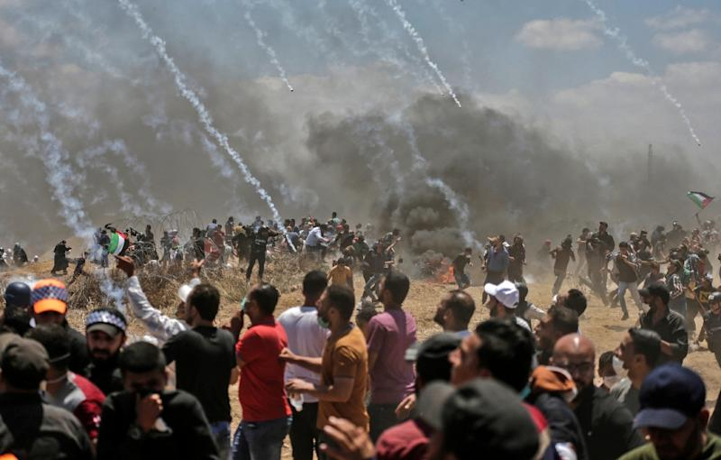 It was the deadliest day in the conflict since a 2014 war between Israel and the Palestinian enclave's Islamist rulers Hamas (AFP Photo/MAHMUD HAMS)