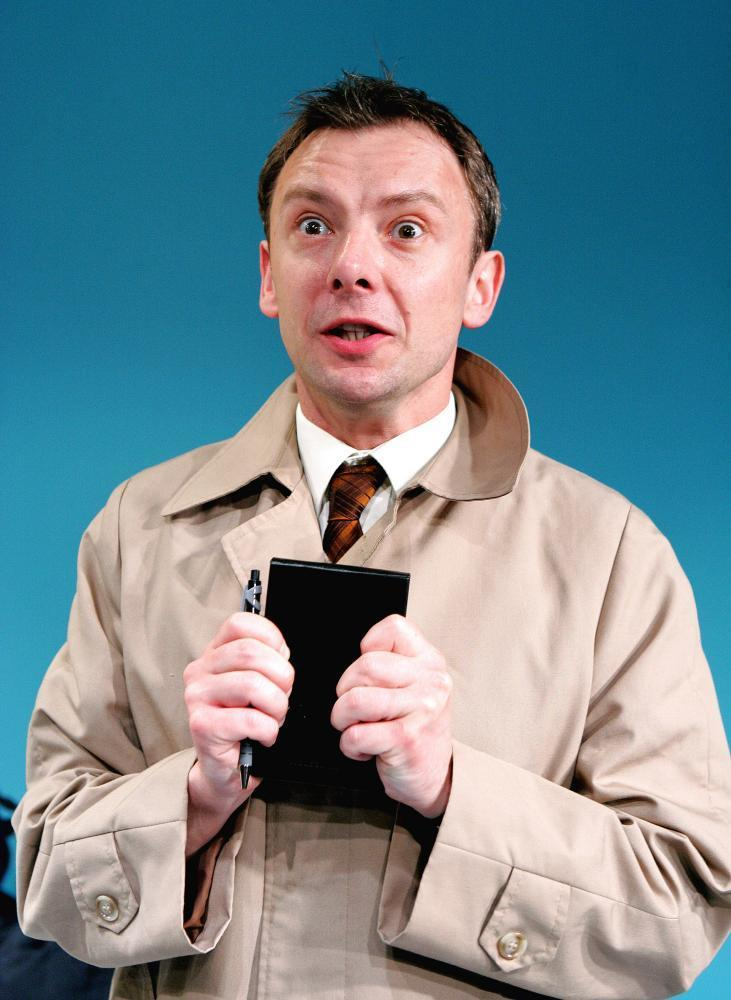 John Simm in Elling at the Bush theatre, London, in 2007.
