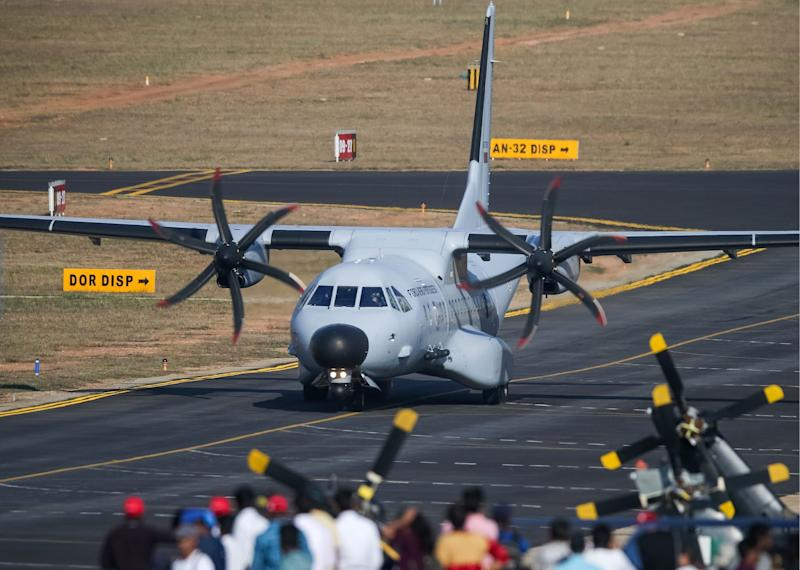 A C295 military transport aircraft in India in February 2019.
