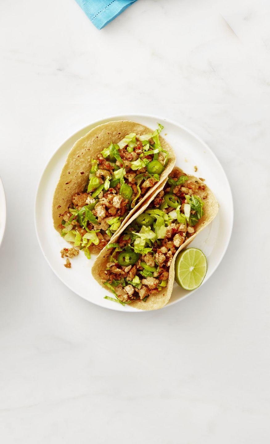 """<p>Tofu will become your new go-to filling after taking a bite of these deliciously crunchy tacos.</p><p><a href=""""https://www.womansday.com/food-recipes/food-drinks/recipes/a53281/tofu-tacos-with-romaine-slaw/"""" rel=""""nofollow noopener"""" target=""""_blank"""" data-ylk=""""slk:Get the Tofu Tacos with Romaine Slaw recipe."""" class=""""link rapid-noclick-resp""""><em>Get the Tofu Tacos with Romaine Slaw recipe.</em></a></p>"""