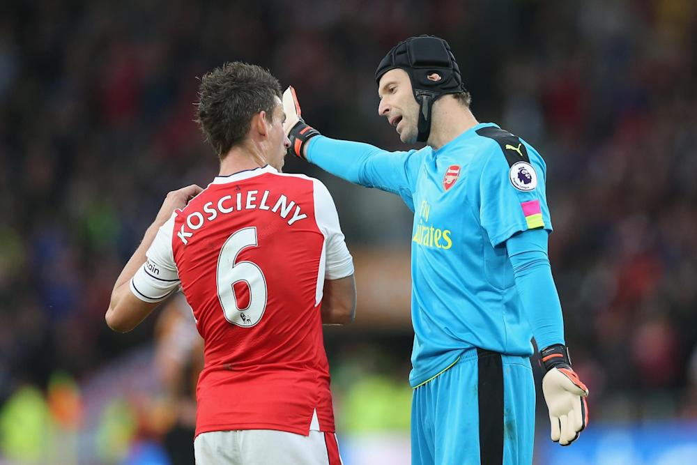Returning duo: Wenger hopes Cech and Koscielny will be fit as Arsenal look to bounce back: Getty Images