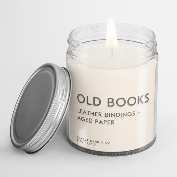 """<p><strong>ForageCandle</strong></p><p>etsy.com</p><p><strong>$22.00</strong></p><p><a href=""""https://go.redirectingat.com?id=74968X1596630&url=https%3A%2F%2Fwww.etsy.com%2Flisting%2F659235841%2Fold-books-soy-candle-book-lover-gift&sref=https%3A%2F%2Fwww.goodhousekeeping.com%2Fholidays%2Fgift-ideas%2Fg1432%2Fteacher-gifts%2F"""" rel=""""nofollow noopener"""" target=""""_blank"""" data-ylk=""""slk:Shop Now"""" class=""""link rapid-noclick-resp"""">Shop Now</a></p><p>For an English teacher or a bookworm, you can get a candle that smells like a library. This shop also has candles in scents named Reading by the Fire or Lost in the Stacks.</p>"""
