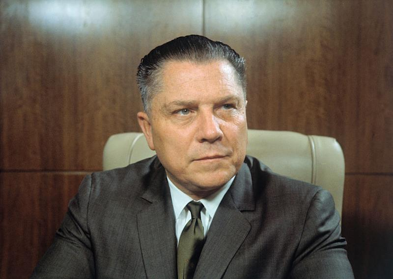Jimmy Hoffa, president of the teamsters union, was at one point one of the most powerful men in the U.S. | Bettmann Archive/Getty Images