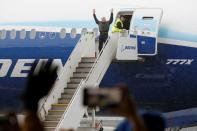 Boeing stages the first flight of its 777X plane in Seattle