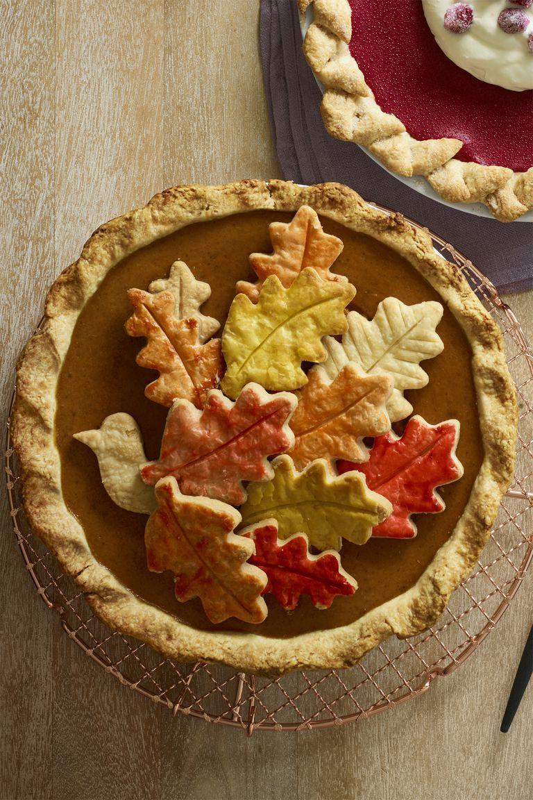 "<p>Why waste time learning how to lattice, when you can turn scraps of dough into a beautiful work of art? P.S. This is also a brilliant way to dress up store-bought pies. (No one will know you picked it up from Costco on the way to Grandma's.)</p><p><em><a href=""https://www.womansday.com/food-recipes/food-drinks/recipes/a60507/chai-pumpkin-pie-recipe/"" rel=""nofollow noopener"" target=""_blank"" data-ylk=""slk:Get the recipe from Woman's Day »"" class=""link rapid-noclick-resp"">Get the recipe from Woman's Day »</a></em></p>"