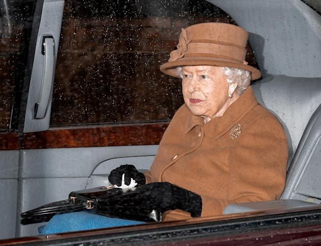 """The Queen pictured a day before the family """"summit"""" at Sandringham (Getty)"""