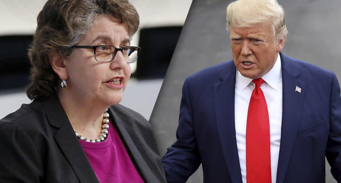 Ellen Weintraub, chair of the Federal Election Commission, and President Trump (Photos: Paul Morigi/Getty Images, Win McNamee/Getty Images)